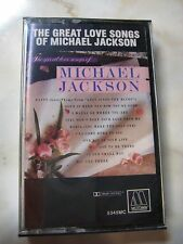 MICHAEL JACKSON - GREAT LOVE SONGS - Cassette Tape - MOTOWN - SEALED NEW - 1976