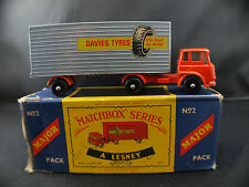 Matchbox Major series n° M2 camion York Freightmaster trailer Davies Tyres rare