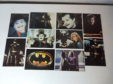 1989 Lot Set 10 Unused Original BATMAN POSTCARDS Jack Nicholson Michael Keaton