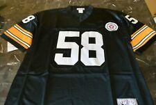 New Pittsburgh Steelers Jack Lambert #58 Jersey Black Size X-Large XL SEWN