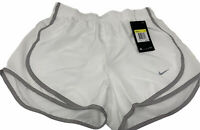 NIKE White Dri Fit Running Shorts w/ Built in Brief Women's Size Small NWT $30