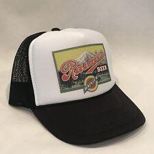 Rainier Beer Trucker Hat Vintage 80's Style Mesh Back Snapback Cap! Black