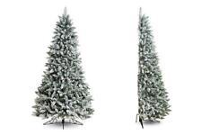 7ft Flocked Noble Pine Half Artificial Christmas Tree PVC 926tps