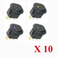 10 X 12V Auto KFZ EIN/AUS Wippenschalter Switch LED Beleuchtet Wippschalter AT