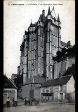 """CHATEAUDUN (28) MARCHANDS de CAIFFA & CAFE-AUBERGE """"VANIER"""" au CHATEAU en 1917"""