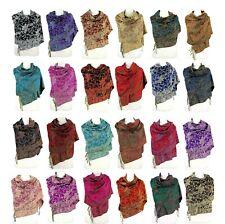 Paisley Pashmina Scarf Women Wraps Winter Fall Warm Shawls Reversible ~ 20 Color