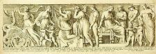 Scène : histoire de Prospérine bas relief Villa Borghèse François Perrier 1645