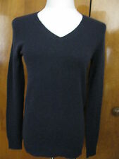 Bloomingdale's Women's Navy 2Ply Cashmere Sweater Xsmall NWT