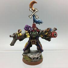 Warhammer 40,000 orcos Ork mal lunas FREEBOOTER Pirata Boss Warboss Pintado De Metal