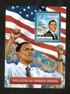 Guinea-Bissau 2012 - Reelection of President Barack Obama - Souvenir Sheet - MNH