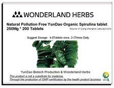 WonderLand Herbs Natural Pollution Free Spirulina tablet 200 *250mg multivitamin