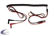 Messleitung Verlängerung mit Spiralkabel und 4mm-Sicherheits-Steckern 40-200cm