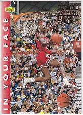 1992-93 UPPER DECK IN YOUR FACE: MICHAEL JORDAN #453 TWICE SLAM DUNK CHAMPION