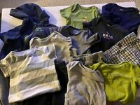 Large 13 piece lot Baby Boy clothes, Size 9 Months