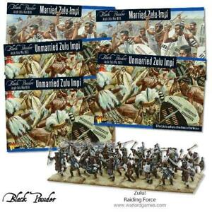 5 Caja Zulú Impi Deal - Warlord Games - Black Powder - 2X Married 3X Unmarried