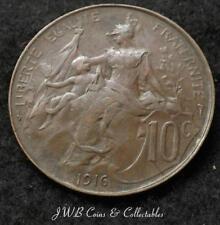 1916 Francia 10 céntimos Moneda