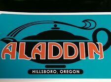 "Aladdin vintage travel trailer decal reproduction 13-1/2"" wide early style"