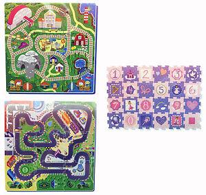 Kids Puzzle Play Mat Soft Eva Train Racing Car Fairy Princess Designs 10 Month