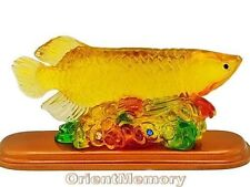 Wealthy Arowana with Gold Ingots and Coins -  Wealth energizer