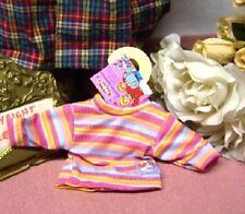 Heless Puppenkleidung, T- Shirt, bunt geringelt für kleine Puppen 28 - 35 cm