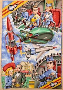 VINTAGE RETRO 1992 Thunderbirds Double Sided Single Duvet & Pillowcase
