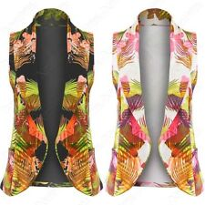 Waist Length Polyester None Waistcoats for Women