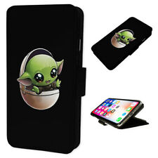 Cute Baby Yoda - Flip Phone Case Wallet Cover Fits Iphone & Samsung