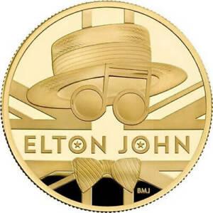 Ek // 100 GBP Gold 999% 1oz BE Royaume-Uni Elton John : Mintage 250 coins
