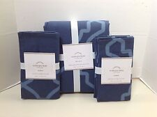 POTTERY BARN TRISHA QUEEN/FULL DUVET, 2 STD SHAMS, BLUE -  NEW WITH TAGS