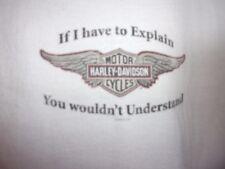 Wild Fire Harley Davidson white graphic L t shirt ride Chicago