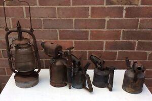 Vintage TOWERLITE PARAFFIN LAMP, PRIMUS 605, MAX SIEVERT & GOVENOR BLOW TORCHES
