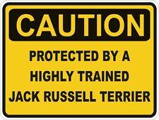 Chien race jack russell terrier prudence autocollant animal pour pare-chocs porte voiture locker