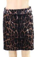 Potters Pot Women's Skirt Brown Size Medium M Leopard Print Mini $38 #721