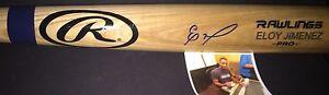 Eloy Jimenez Chicago White Sox Autographed Signed Engraved Blonde Bat Proof A