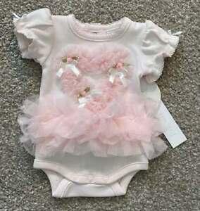 Edgehill Collection NWT Preemie Baby Girl Fancy Bodysuit w/Tulle Heart Sz00