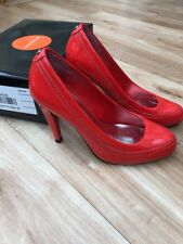 Karen Millen Orange Patent Leather High Court Shoes Size 5(38)