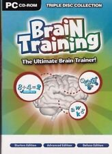 Brain Training The Ultimate Trainer PC CD ROM 3 Games Starter Advanced & Deluxe