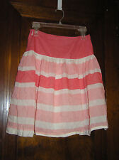 cc8628ed4d GAP COTTON BLEND WIDE HORIZONTALLY STRIPED SKIRT SZ 1 0816