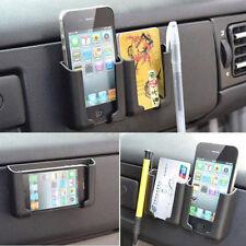 Universal Black Car Phone Pen Organizer Storage Bag Adhesive Box Holder Cradle