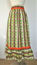 New listing Vintage 60s 70s Half Apron Hippie Boho Floral Flower Power Long Handmade ?