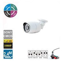 HD-TVI 2.4MP 1080P 4 IN 1 Bullet Camera 2.8mm Lens 24 IR CMOS Outdoor/Indoor