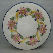 Hand Painted Vintage Base Plate for under Tureen Pink Flowers