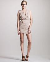 Madison Marcus Awakening Chiffon Dress Nude Size M Medium  $425 NWOT