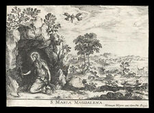 santino incisione 1600 S.MARIA MADDALENA weyen