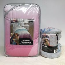 Marvel Comics Rising Girl Reversible Twin Comforter & Blanket Throw Set 2 Piece