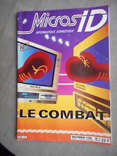 MICROS ID N°1 DECEMBRE 1986 ETAT CORRECT COUPON 4eme PLAT DECOUPE