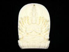 Solido Osso Dettagliato a Mano Ciondolo Thousand Arms Kwan-Yin Buddha #02211901