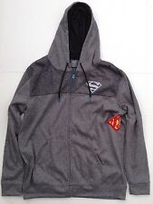 XL Superman Hoodie Sweatshirt Brand New w/Tags Gray Zippered DC Justice Leagur