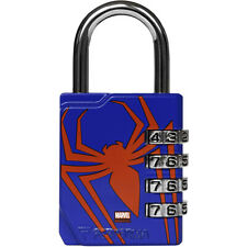 Performa Ultra Premium Embossed 4-Dial Combination Gym Lock - Spider-Man