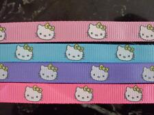 4 yds HELLO KITTY cat Grosgrain Ribbon Hairbow Craft Gift